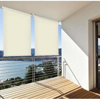 brise vue r tractable vertical pour balcon beige l140xh140cm accessoires mobilier de jardin. Black Bedroom Furniture Sets. Home Design Ideas