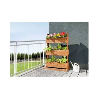 jardini re pour balcon hors sol sur lev e cube 3 bois de sapin jardini res et bacs achat. Black Bedroom Furniture Sets. Home Design Ideas