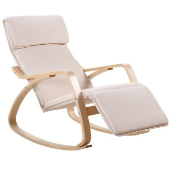 89 90 sur rocking chair chaise bascule fauteuil relaxant blanc achat prix fnac. Black Bedroom Furniture Sets. Home Design Ideas
