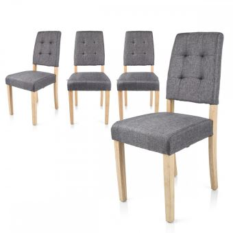 lokke chaises scandinaves grises style nordique lot de 4 achat prix fnac - Chaises Scandinaves Grises