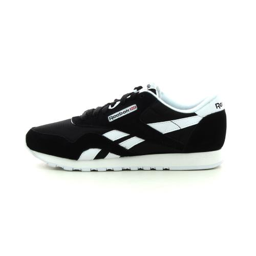 REEBOK Classic Nylon Noir Blanc 37.5 Femme Chaussures et