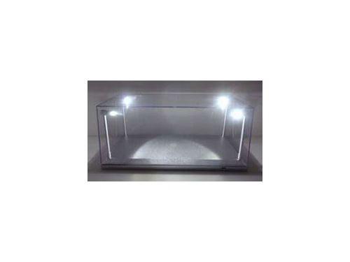 Présentoir vitrine avec éclairage pour véhicules 1/18