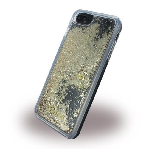 Coque rigide liquide Gue avec paillettes dorees pour iPhone 6 Plus 7 Plus et 8 Plus