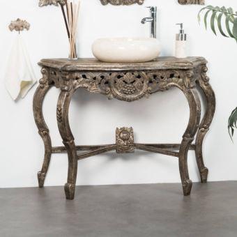 Meuble Salle De Bain Patine Bronze BAROQUE 100