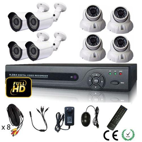 kit vidéo surveillance Mecer Full HD 8 caméras 2 Mpx