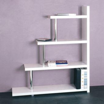 L120cm escalier 4 blanc en x niveaux laqué bois Etagère rCWxBdoQe
