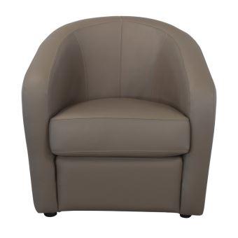 Fauteuil cabriolet en cuir avec coussin d assise déhoussable PUNGI