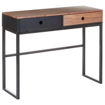 meuble console 2 tiroirs belle qualit bois et noir achat prix fnac. Black Bedroom Furniture Sets. Home Design Ideas