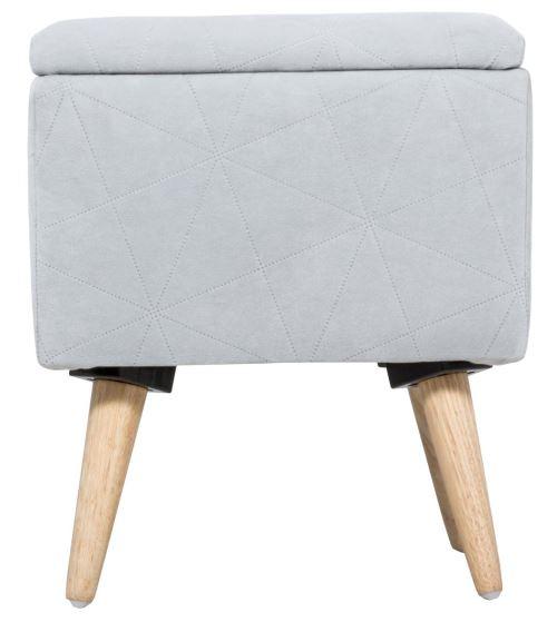 Grand Tabouret Pouf Coffre De Rangement Style Scandinave