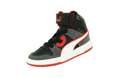 Puma kds rebound street s l mp <strong>chaussures</strong> mode sneakers garcon enfant cuir noir rouge