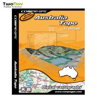 Carte Gps Australie.Carte Australie Complete 1 250e Gps Achat Prix Fnac