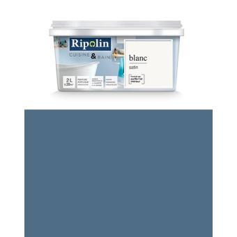 Ripolin Peinture Esprit Déco Cuisine Bain Satin Murs De Cuisine Et Salle De Bain 2l Bleu Gris