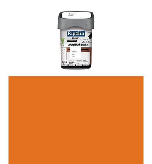 Ripolin - Peinture Esprit Récup Cuisine et bain Satin (Objets en bois, mélaminé, stratifié) 0,75 Litre Abricot