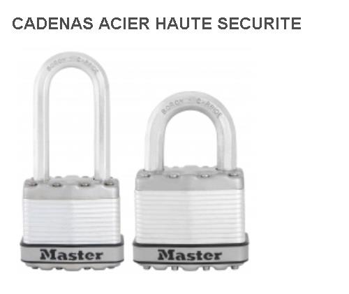 MasterLock - Cadenas Acier haute sécurité 45mm
