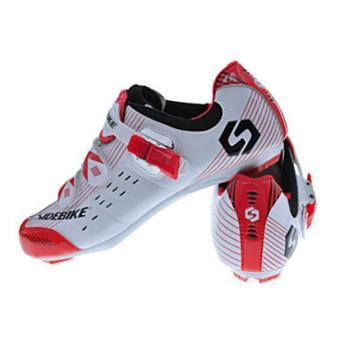 f8af773765a62 Chaussures Paire Pédales Avec Vélo Cales Et Rouge De Blanc qaYBOqrZS
