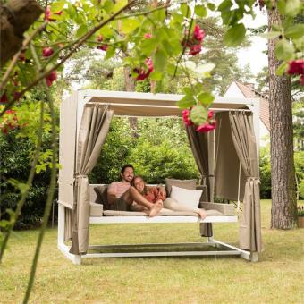 400€ sur Blumfeldt Eremitage Balancelle de jardin luxe avec auvent ...