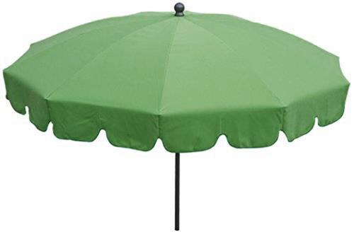 Parasol rond centré coloris Vert - Dim : H 230 x D 200/10 cm-PEGANE-