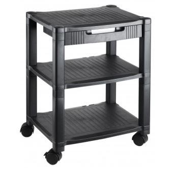Meuble Rangement Imprimante meuble de rangement pour imprimante altura high noir avec tiroir hjh
