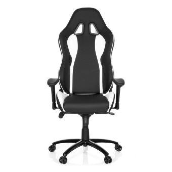 Chaise De Bureau Gaming WINGMAN I Simili Cuir Noir Blanc