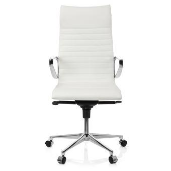 Fauteuil de bureau I cuir de direction Chaise PARIBA blanc mNOyn08vwP