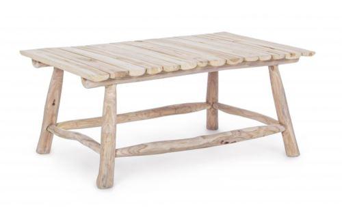 Table basse coloris naturel -L 90 x P 60 x H 38 cm -PEGANE-