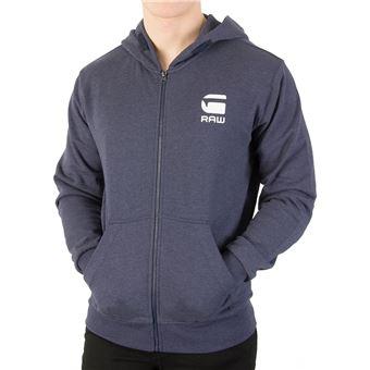 sélection spéciale de vente chaude coupe classique G-Star Homme Doax Zip Sweat à capuche, Bleu - Sweat-shirts ...