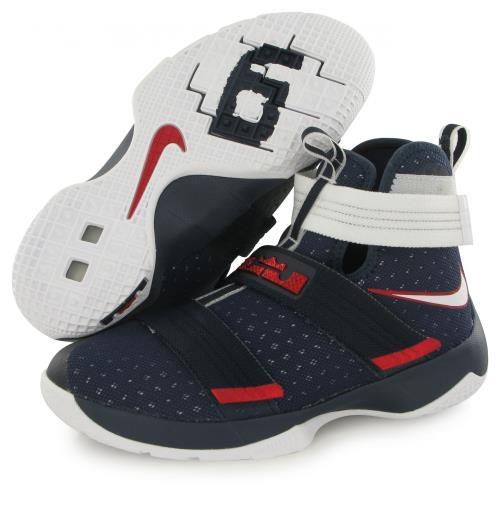 Nike Lebron Soldier bleu, chaussures de basketball enfant