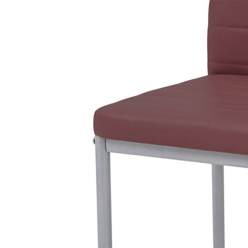 Chaises en polyuréthane Pure Design QUEEN Bordeaux x4