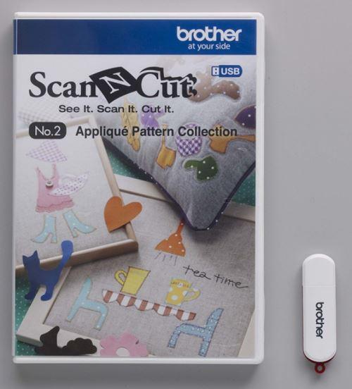 Usb N° 2 Collection De Motifs D'Appliqué Art. No. Causb2 Brother Scancut Cm840 Cm600