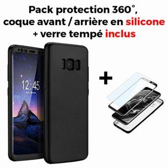Coque silicone 360° + film en verre trempé pour Samsung Galaxy S8+ G955 -  Etui pour téléphone mobile - Achat   prix   fnac 9ea5dcf8e7c2