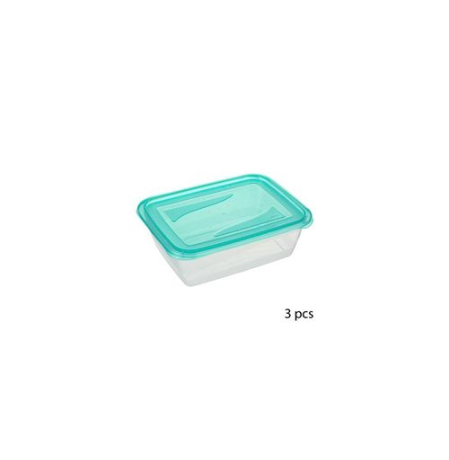 Lot de 3 boîtes de conservation - 1.25 L - Bleu