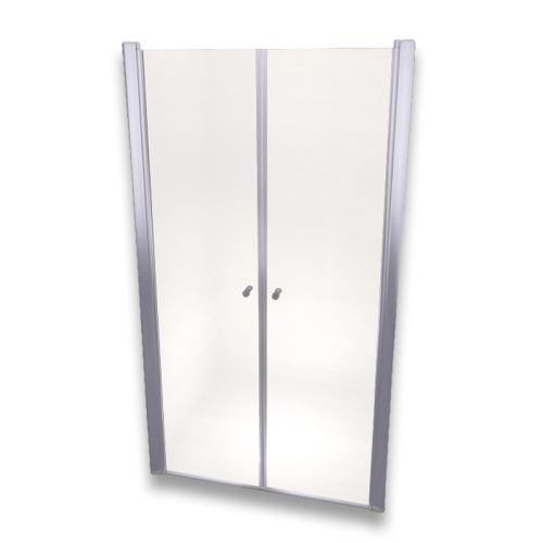 Porte de douche 185 cm largeur réglable 120-124 cm Transparent