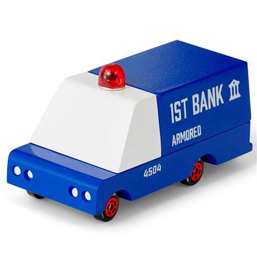 Petites voitures et mini modèles rétro classiques en bois Candylab CandyVan Véhicules design pour enfants et adultes - Armored Van CND F201