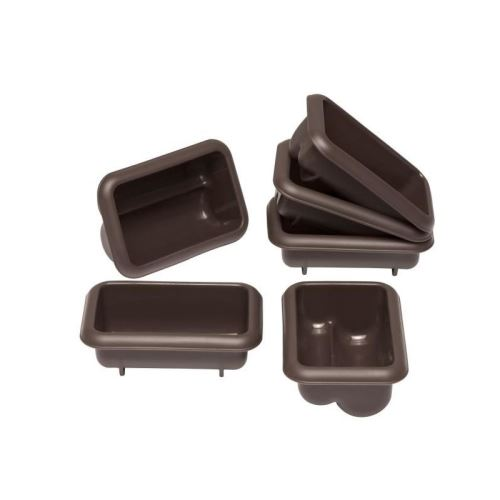 LURCH Lot de 6 mini moules - Marron