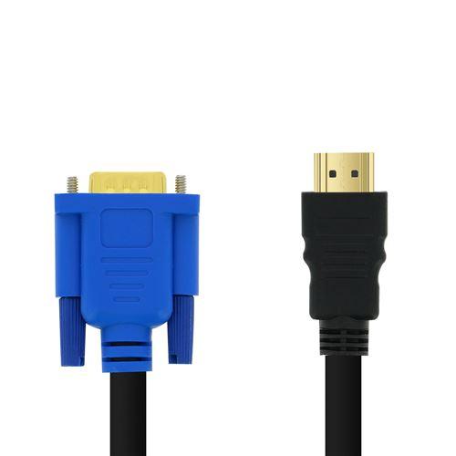 Adaptateur Vidéo HDMI Mâle vers VGA Mâle 1080P 1,8m LinQ Noir