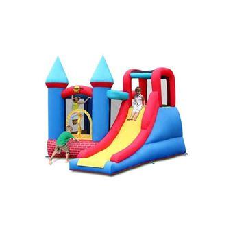 Juratoys Aire De Jeux Gonflable Chateau Briques Rouges Happy Hop Hh9007    Achat U0026 Prix | Fnac