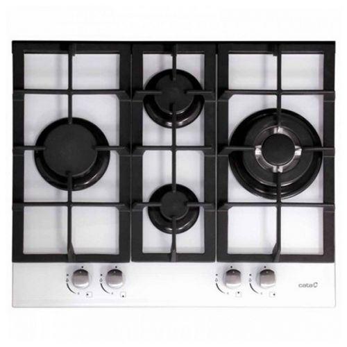 Plaque au gaz Cata LCI631WH 60 cm Noir Verre (4 cuisinière)