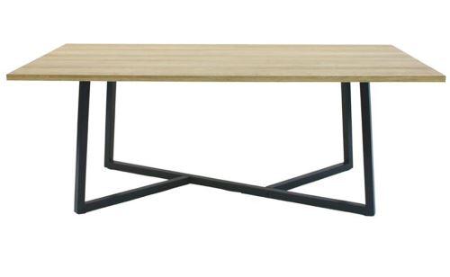 Table basse en bois MDF coloris naturel - 110 x 60 x 45 cm -PEGANE-