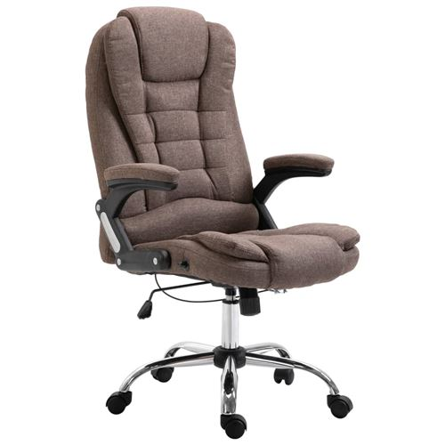 Chaise de bureau Marron Polyester