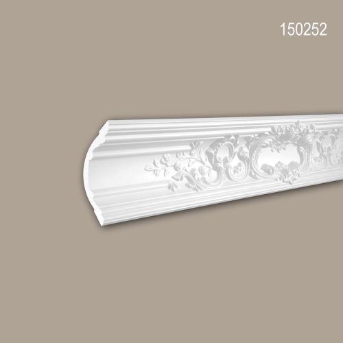 Corniche 150252 Profhome Moulure décorative style Rococo-Baroque blanc 2 m