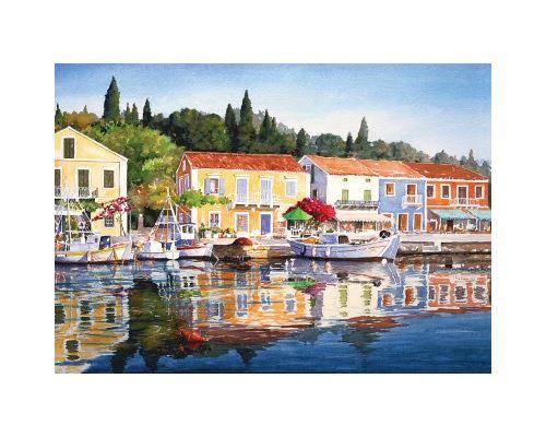 Puzzle 1000 Pièces : Grèce : Fiscardo, Art Puzzle