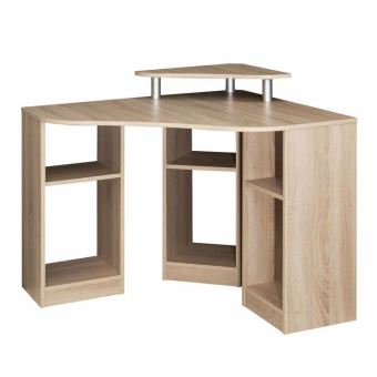 bureau informatique d 39 angle en bois longueur 94cm hades ch ne achat prix fnac. Black Bedroom Furniture Sets. Home Design Ideas