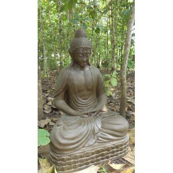Statue jardin Bouddha assis en fibre de verre position chakra 150 cm ...