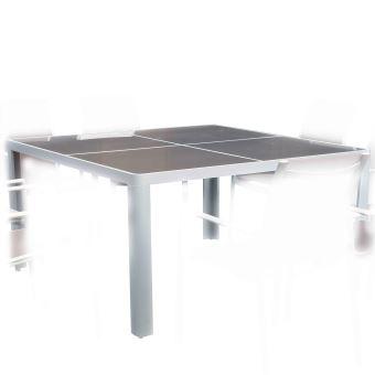 Table Carrée 1.4X1.4M Victoria Alu/Verre - Mobilier de ...