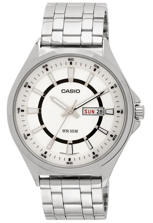 CASIO Montre Collection MTP E108D 7AV en Acier inoxydable  UDya1