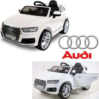 voiture lectrique enfant 12 volts audi q7 nouvelle pneus gomme luxe blanc v hicule lectrique. Black Bedroom Furniture Sets. Home Design Ideas