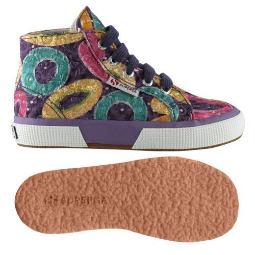 Superga <strong>chaussures</strong> 2795 cotfanembrj pour enfant style classique imprimé à fleurs