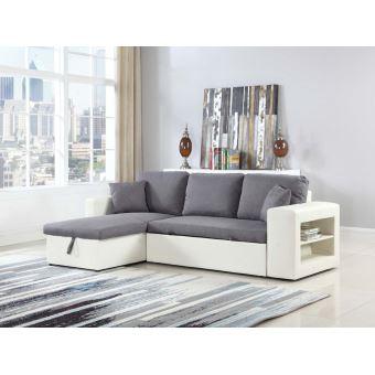 """150€ sur Canapé d angle """"Allen luxe"""" Blanc Gris Achat & prix"""
