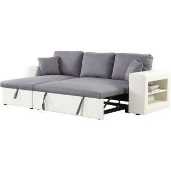canap dangle allen luxe blanc gris achat prix fnac - Canape Angle Blanc Et Gris