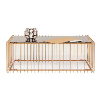 Kare Table Wire Basse Cuivre Design Rectangulaire 115x57cm 7gvf6Yby